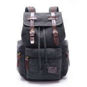 Cooler New Men Women Vintage Canvas Backpack Backpack Retro Vintage for Outdoor Sports Backpack Uni Rucksack