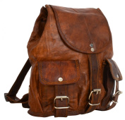 Gusti Leder nature Genuine Leather Small Shoulder Backpack Rucksack College Uni 25cm Laptop Bag Satchel Daypack Vintage Unisex Brown M70