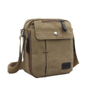 WorldFree New Men's Vintage Canvas Shoulder Messenger Travel Hiking Bag Satchel