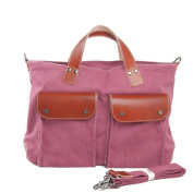 Sumolux Women's Canvas Top-handle Bag Shoulder Bag Rose Red