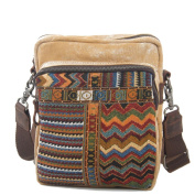 Sumolux Unisex Canvas Ethnic Messenger Bag Khaki
