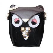 Fashion Gallery Cute FoxPrint Owl Satchel Cross Body Shoulder Bag Handbag