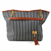 Fashion Gallery Womens Designer Tote Bag Stripe Shoulder Handbag Shopper