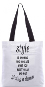 Snoogg Not giving a damn 34cm x 38cm shopping utility tote bag made from Polyester Canvas