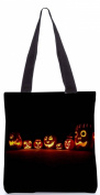 Snoogg Seven Halloween pumpkin 34cm x 38cm shopping utility tote bag made from Polyester Canvas