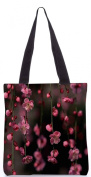 Snoogg Pink simple flowers 34cm x 38cm shopping utility tote bag made from Polyester Canvas