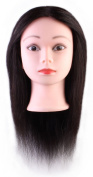 36cm Cosmetology Mannequin Head, Training Practise Cutting Styling Mannequin Head with 90% Real Human Hair