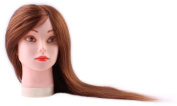 46cm Cosmetology Mannequin Head, Training Practise Cutting Styling Mannequin Head 100% Real Human Hair