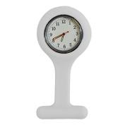 Silicone Gel Nurses Pocket Fob Watch Infection Control Machine Washable White