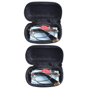 2 PRS Southern Seas Mens Womens Folding Reading Travel +0.75 Glasses w Case 14 Strengths Available