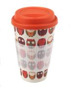"Cambridge ""Owl"" Thermal Insulated Bamboo Travel Mug"