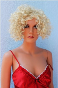Fashion Lady Wig short Hair Curled Wavy (BLONDE) Carnival Party Cosplay Disco