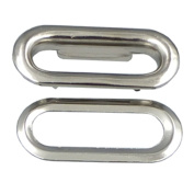 """Bluemoona 100 Sets- Metal Oval Shaped Eyelets Grommet 6MM 7/16"""" X 30MM 1 3/16"""" with Washers Canvas Self Backing"""