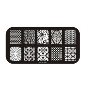 Prefect Summer Nail Polish Manicure Stamping Plate Image DIY Printing Template Decoration #54