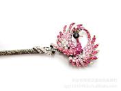 Antique Style Hair Jewellery, Peacock Hamdmade Diamond Hairpin YHQ741,Rose