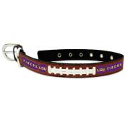 NCAA LSU Tigers Leather Dog Collar