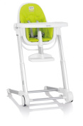Inglesina Zuma Highchair, White/Lime