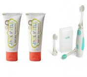 Jack N' Jill Natural Toothpaste 50ml 2-Pack with Vibrating Toothbrush