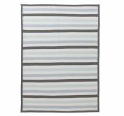 DwellStudio Multi-Stripe Knit Blanket, Robin's Egg