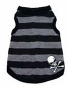 Hip Doggie Grey Stripe Skull Tank