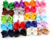 20pc 7.6cm Boutique Windmill Style Hair Bows Girls Baby Alligator Clip Grosgrain Ribbon Headbands By Yuanmutang
