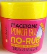 Nail-Aid, 1st Acetone Power Gel No-Rub Remover, Glitter & Nail Art, 140ml