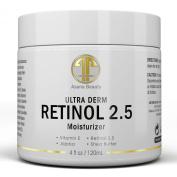 Best Retinol 2.5% Night Cream, HUGE 120ml Moisturiser for Face & Eyes - Best Anti Ageing & Anti Wrinkle Firming Cream for Fine Lines, Wrinkles & Dry Skin, Natural Lotion with Vitamin C,E & Jojoba Oil