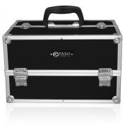 FASH Cosmetics Black Professional Aluminium Makeup Kit with Lock, Keys and Shoulder Strap