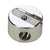 Beautique Round Metal Pencil Cosmetic Sharpener