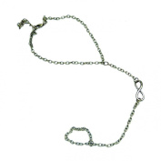 Lowpricenice(TM)Retro Fashion Wild Simple 8 Character Link Finger Foot Chain Anklet