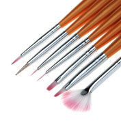 7 Nail Art Design Drawing Painting Pen Polish Brush Set DDStore