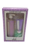 Whish Lavender Body Wash (470ml + 60ml) Includes Bonus Exfoliating Body Scrubber