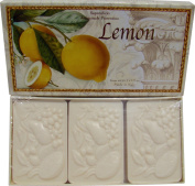 Saponificio Artigianale Fiorentino Lemon Decorative Italian Citrus Bath Soap 3 x 130ml Bars