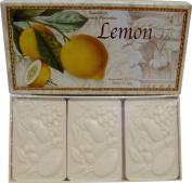 Saponificio Artigianale Fiorentino Lemon Decorative Italian Citrus Bath Soap 3 x 130ml Bars