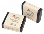 Organic All Natural Activated Charcoal Bar Soap by Desert Spring Naturals Made with Coconut and Olive Oil