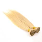 Feelontop® 10pcs Cheap Hair Extension Peruvian Hair Straight 6a Unprocessed 613 # Blonde Peruvian Straight Hair
