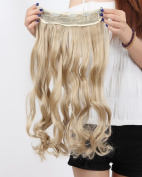 S-noilite®70cm Curly One Piece (5 Clips) Clip in Hair Extensions Ashn Blonde