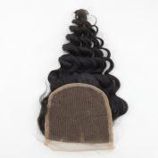 LaNova Beauty Lady's Sale Lace Closure Size:50cm Deep Wave Natural Colour 1pc/lot 40g/pc