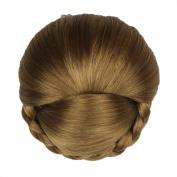 Etosell Women Clip In Hair Bun Chignon Donut Roller Wigs #D