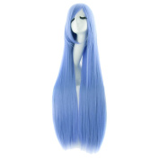 Etosell Women's Long straight Cosplay Party Costume Straight Wig Blue