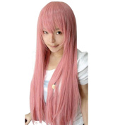 Etosell Womens Girls Cosplay Party Long Bangs Straight Wigs Pink
