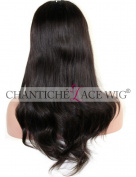 Chantiche Brazilian Cheap Body Wave U Part Wigs Human Hair For Black Women Lace Front Wig Very Ntuaral Looking Middle Part 130 Density Medium Size Cap Medium Brown Lace 36cm #1B