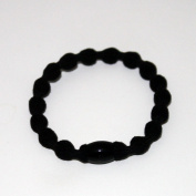 10 Pcs Black Elastic Hair Tie Hair Band+ Free Top-ishop Cable Tie