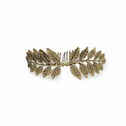 Kitsch Leaf Bun Pin, Silver, 5ml