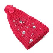 SEEKO Rhinestone Button Hair Band Head Wrap Wraps Ear Warmer Winter Hairband