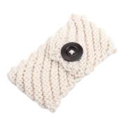 SEEKO Women Girl's Knit Button Headbands Hair Wraps Ear Warmer Winter Hairband