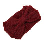 SEEKO Wool Knitted Women Hat Headgear Crochet Flora Headband Head Wrap Hair Band Hairband