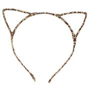 Acelist [Party Stars] Glitter Cracked Pattern Hair Band Fashion Headband Hair Hoop Fashionable Cat Ear