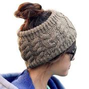 Happy Will Winter Warm Knit Crochet Twist Headband Hairband Head Wrap for Women Girls with Stylus