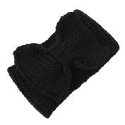 SEEKO Women Girl Knit Bow Headband Crochet Headwarmer Hairbands Earmuffs Hair Tie